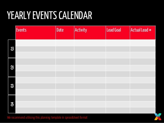 yearly events calendar