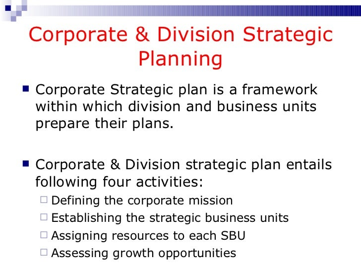 difference between corporate planning and strategic planning