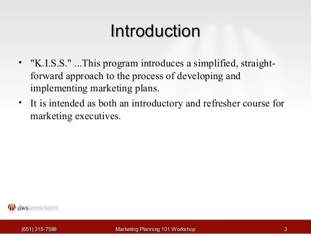 Marketing Planning Tutorial Slide 3