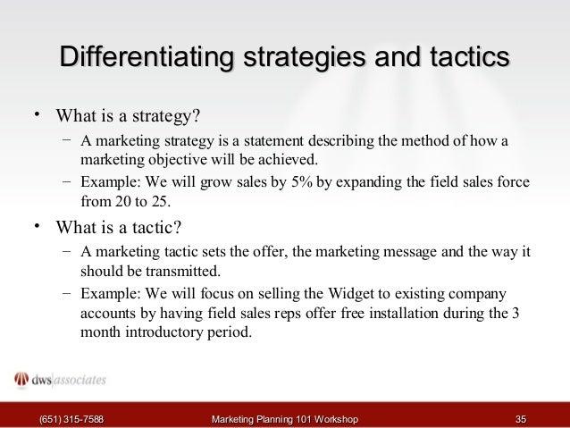 Write a marketing strategy statement