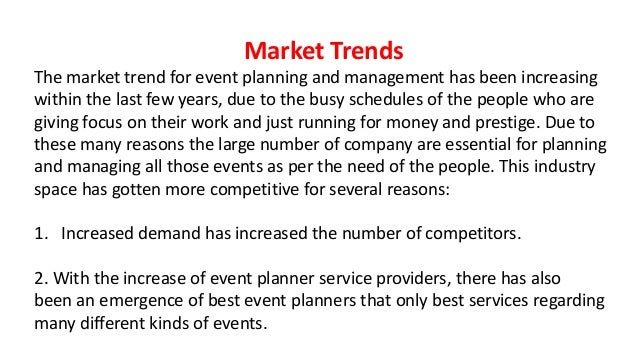Marketing plan of event management corporation