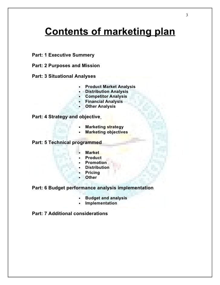 marketing plan assignment pdf