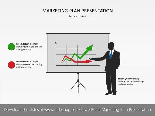 MARKETING PLAN PRESENTATION Replace this text  Lorem Ipsum is simply dummy text of the printing and typesetting  Lorem Ips...