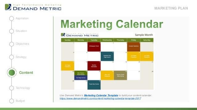 Marketing Plan Presentation Template - Marketing calendar template 2018