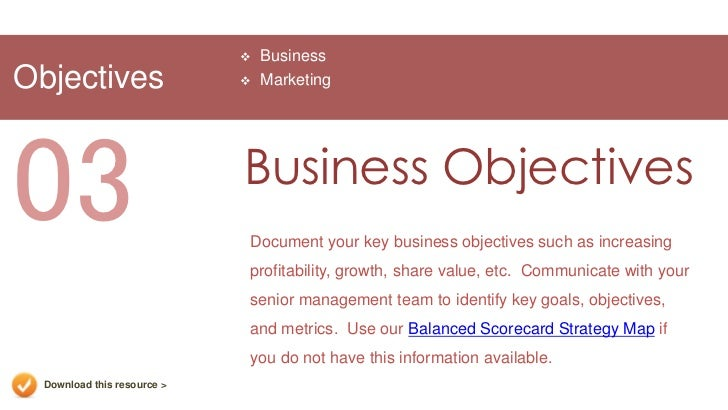 Marketing plan presentation template 13 businessobjectives marketing03 business objectives flashek Choice Image