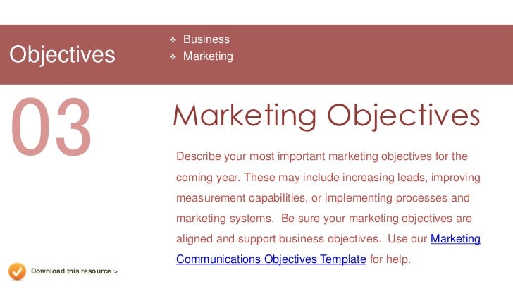 Marketing plan presentation template download this resource 14 businessobjectives marketing03 marketing objectives flashek Gallery
