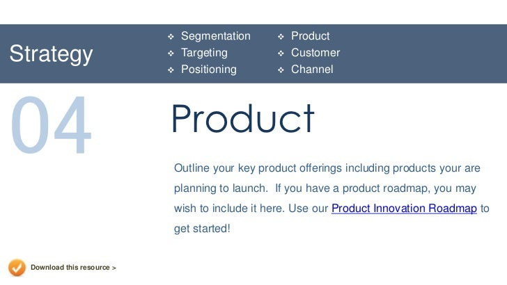 Marketing Plan Presentation Template – Product Plan Template