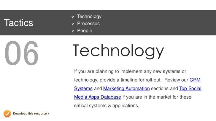 technology plan template