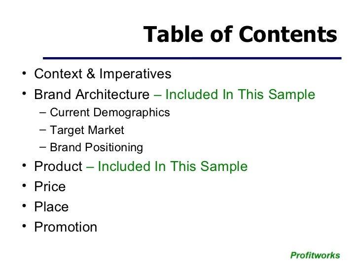 Marketing Plan Template Small Business