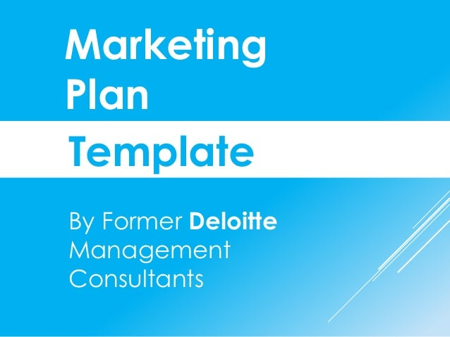 Marketing plan template in powerpoint marketing plan template by former deloitte management consultants pronofoot35fo Gallery