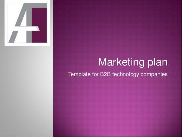 marketing plan template for b2b technology companies. Black Bedroom Furniture Sets. Home Design Ideas