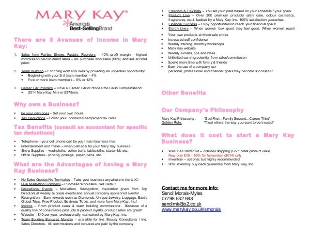 Business plan for mary kay business