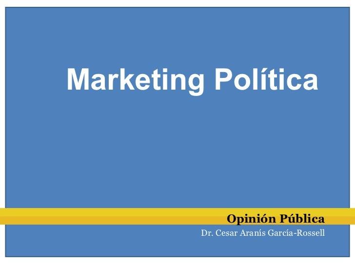 Marketing Política               Opinión Pública         Dr. Cesar Aranís García-Rossell