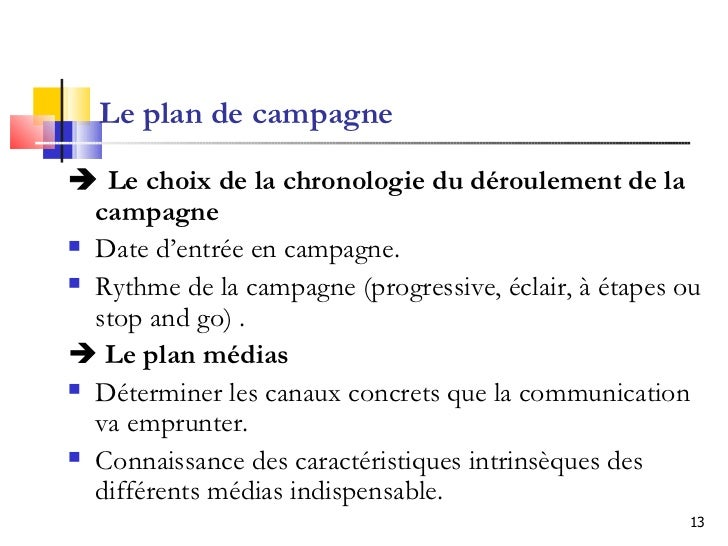 Marketing politique application aux campagnes lectorales for Outillage plan de campagne