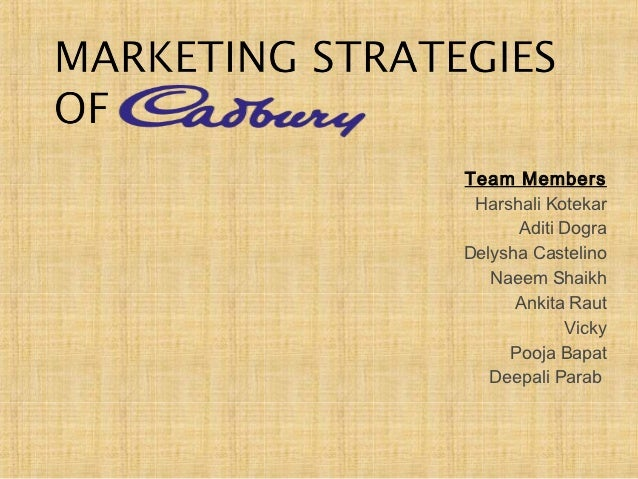 cadbury marketing plan Marketing plan cadbury are able to produce a detailed marketing plan a marketing plan is a map which guides companies towards achieving their desired objectives and goals.