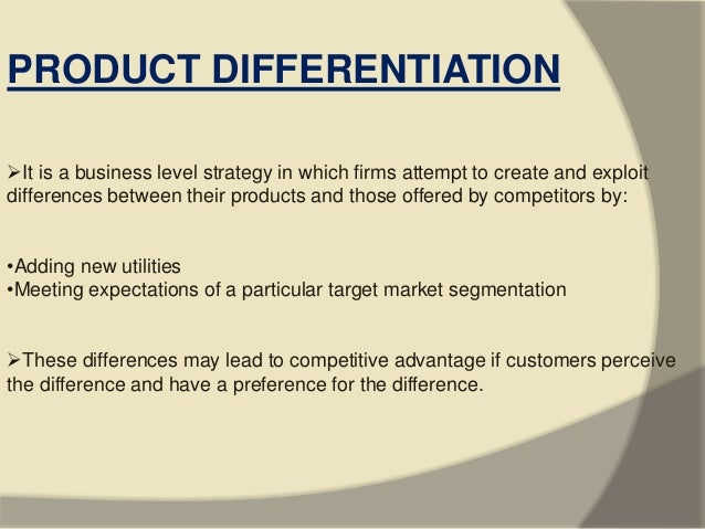 difference between market segmentation and product differentiation pdf