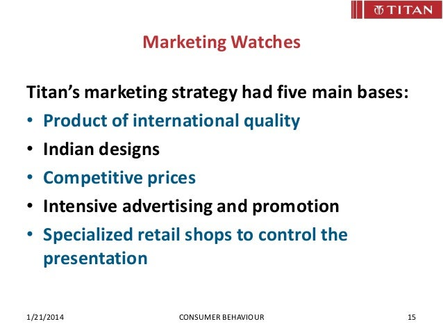 Market strategy of titan watches