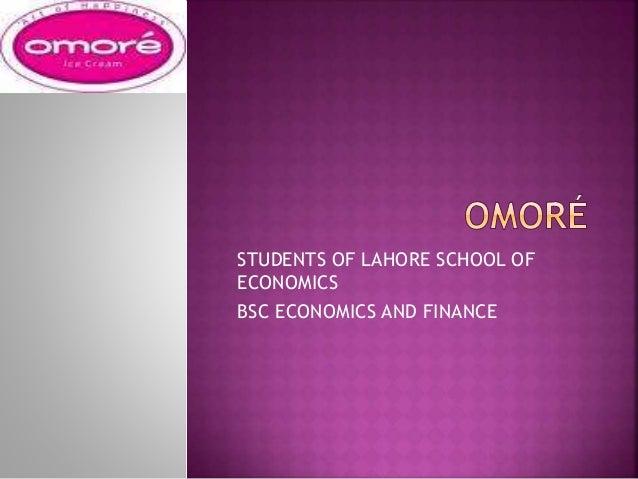 STUDENTS OF LAHORE SCHOOL OF ECONOMICS BSC ECONOMICS AND FINANCE