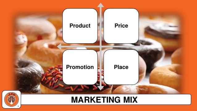 dunkin donuts marketing mix