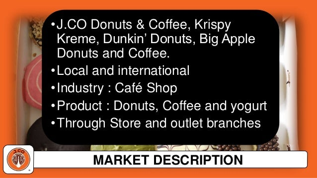 swot analysis j co donuts What is a swot analysis it is a way of evaluating the strengths, weaknesses, opportunities, and threats that affect something see wikiwealth's swot tutorial for help remember, vote up the most important comments.