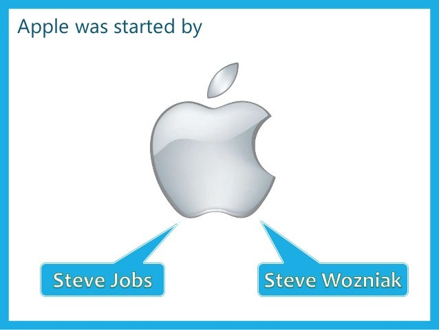 Apple was started by