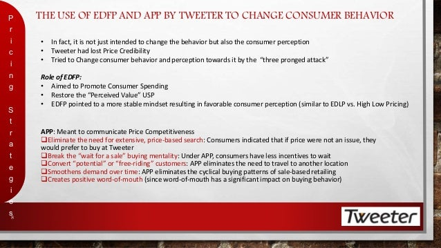 tweeter price competitiveness