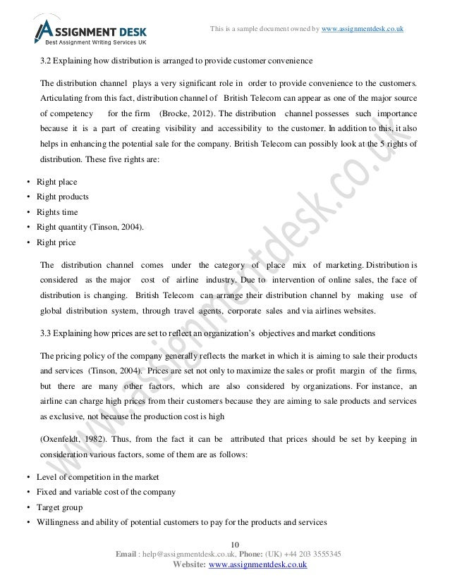 Sample Assignment on Marketing Principles