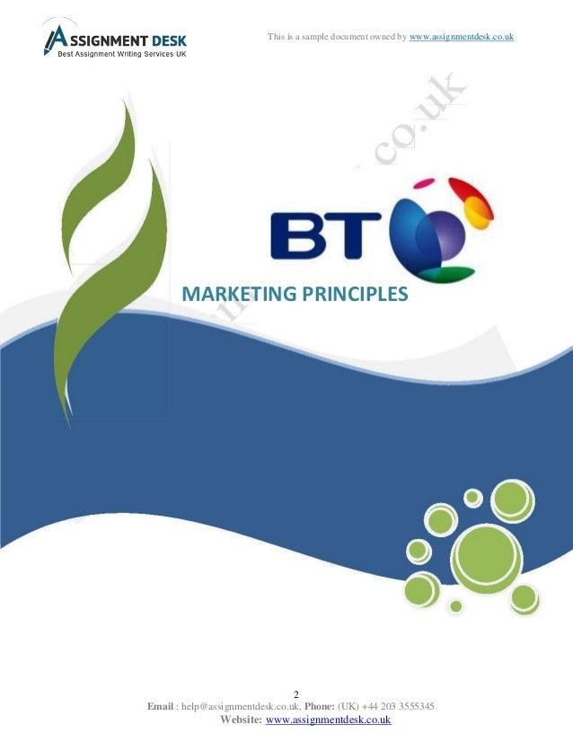Marketing Principles Assignment Help