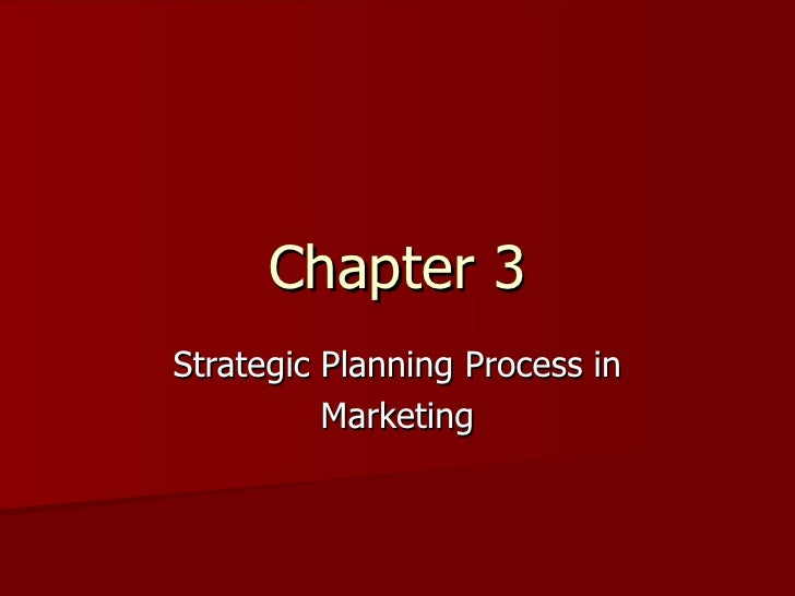 Chapter 3 Strategic Planning Process in Marketing