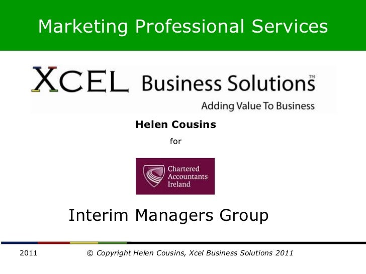 Marketing Professional Services                    Helen Cousins                              for       Interim Managers G...