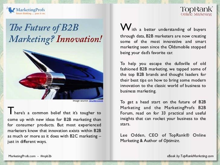 B2B Marketing Innovation eBook - MarketingProfs B2B Forum Slide 2