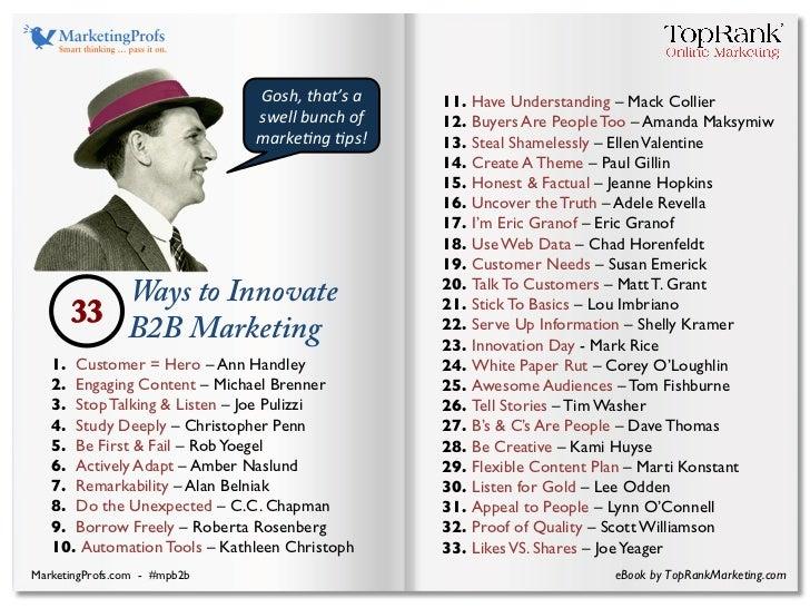 B2B Marketing Innovation eBook - MarketingProfs B2B Forum Slide 3