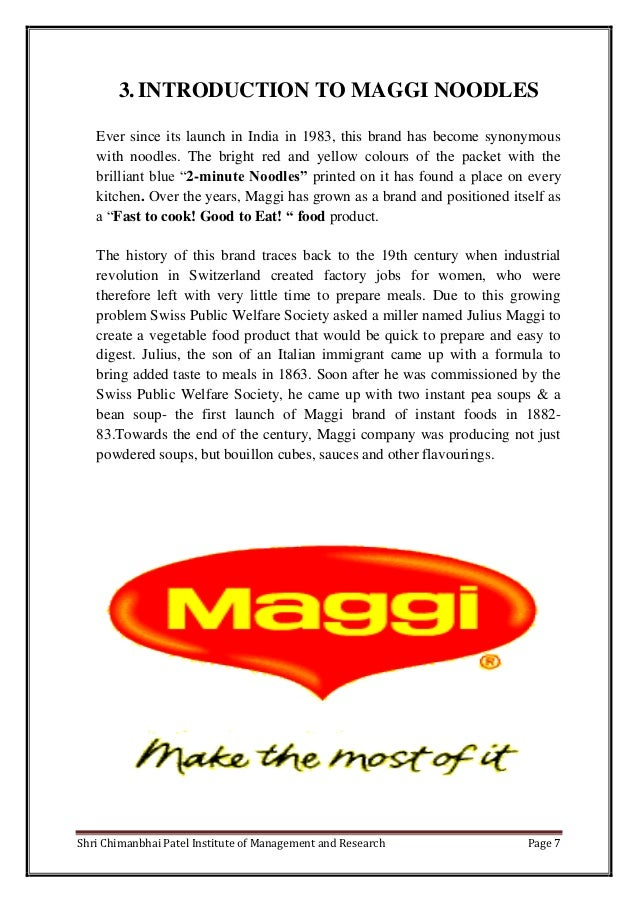 marketing research by maggi noodles Nestlé has joined forces with amazon in india to expand the reach of its products, starting with its new range of maggi noodles.