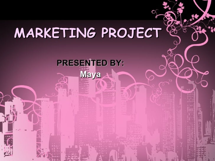 marketing project presented