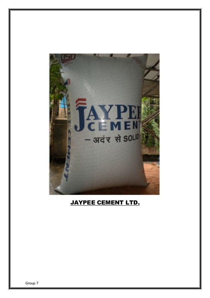 JAYPEE CEMENT LTD.Group 7