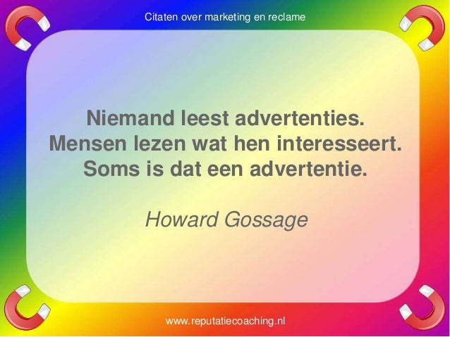 Citaten Over Lezen : Marketing quotes reclame citaten adverteren spreuken