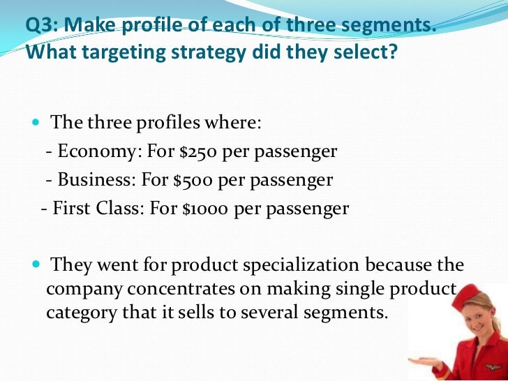 market segmentation of virgin airlines Virgin atlantic mainly targets customer segment that are above average in   virgin atlantic enjoys a high level of brand recognition due to the.