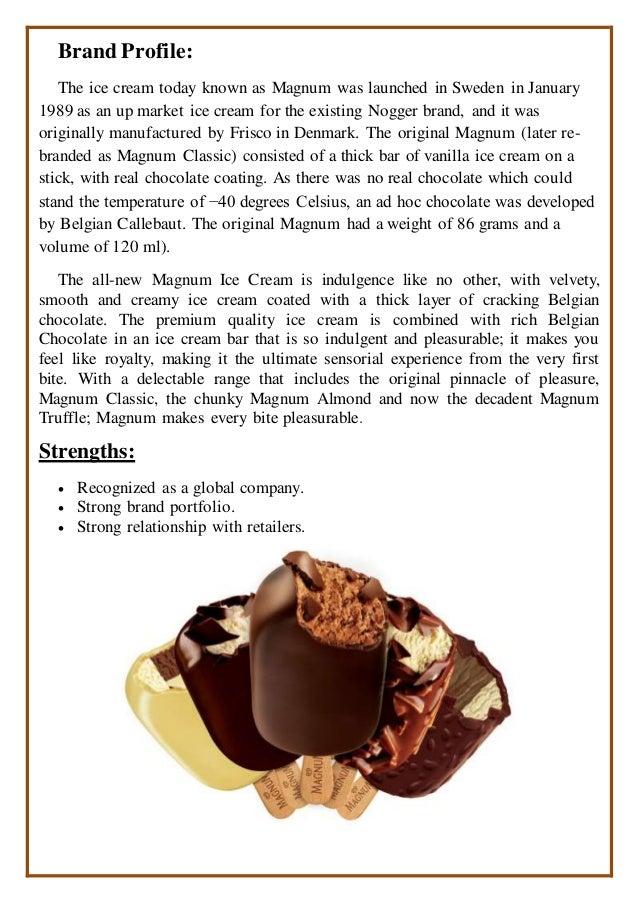 strengths of magnum ice cream