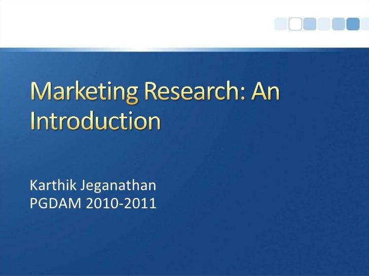 Karthik Jeganathan PGDAM 2010-2011