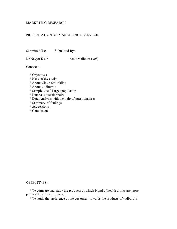 MARKETING RESEARCH   PRESENTATION ON MARKETING RESEARCH    Submitted To:      Submitted By:  Dr.Navjot Kaur               ...