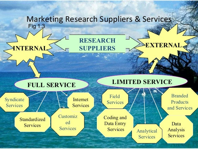 Marketing Research Suppliers & Services LIMITED SERVICE Branded Products and Services Data Analysis Services Analytical Se...