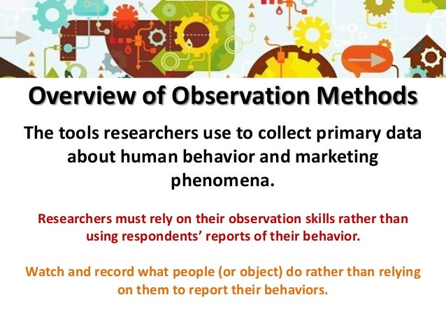 What is observational research?