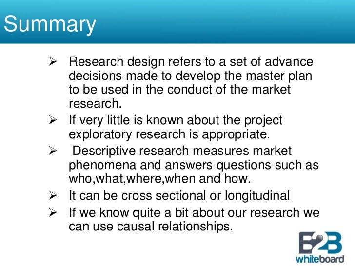 research question relationship to research design