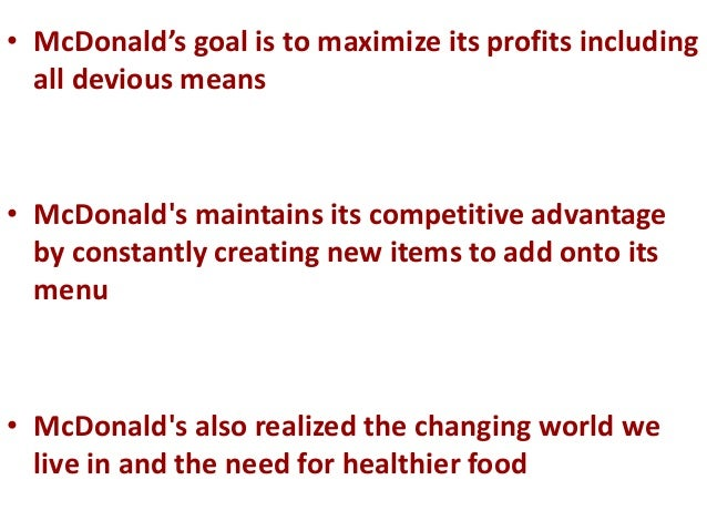 mcdonald s marketing stratiges and the fast food industry marketing essay Mcdonald s marketing stratiges and the fast food industry marketing essay the substitute products for mcdonald's will be the other fast food chain.