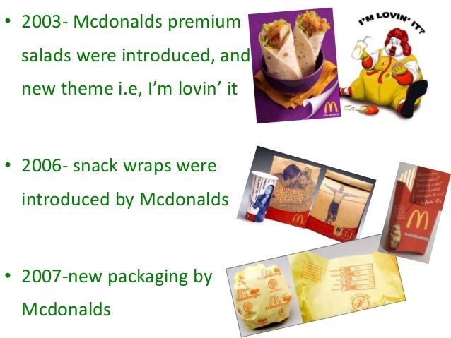 mcdonalds marketing research Food marketing has been shown to influence children's  research building evidence to  mcdonald's also agreed not to market.