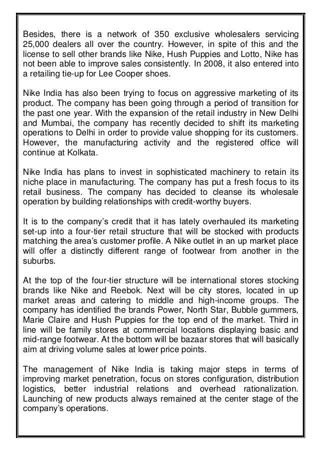 Nike business plan example