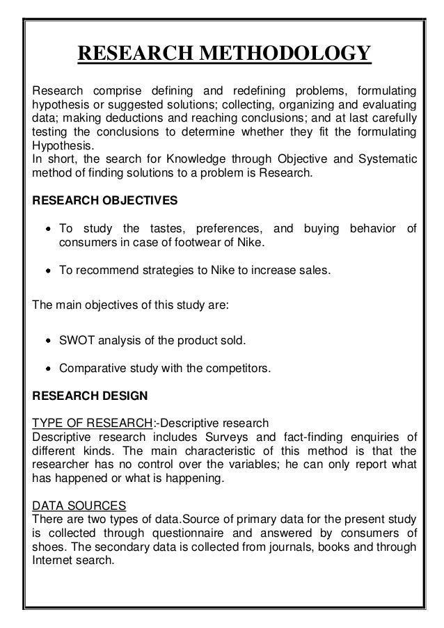 How to write a market research report example