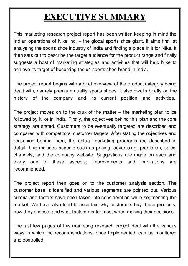 Nike marketing report