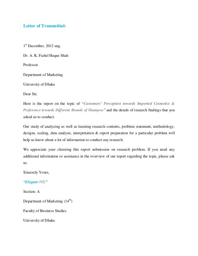 Marketing Research Report Proposal Elegant VI – Marketing Proposal Letter