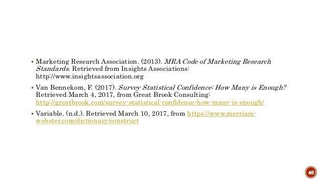 Marketing Research & Strategies: Quantitative Research